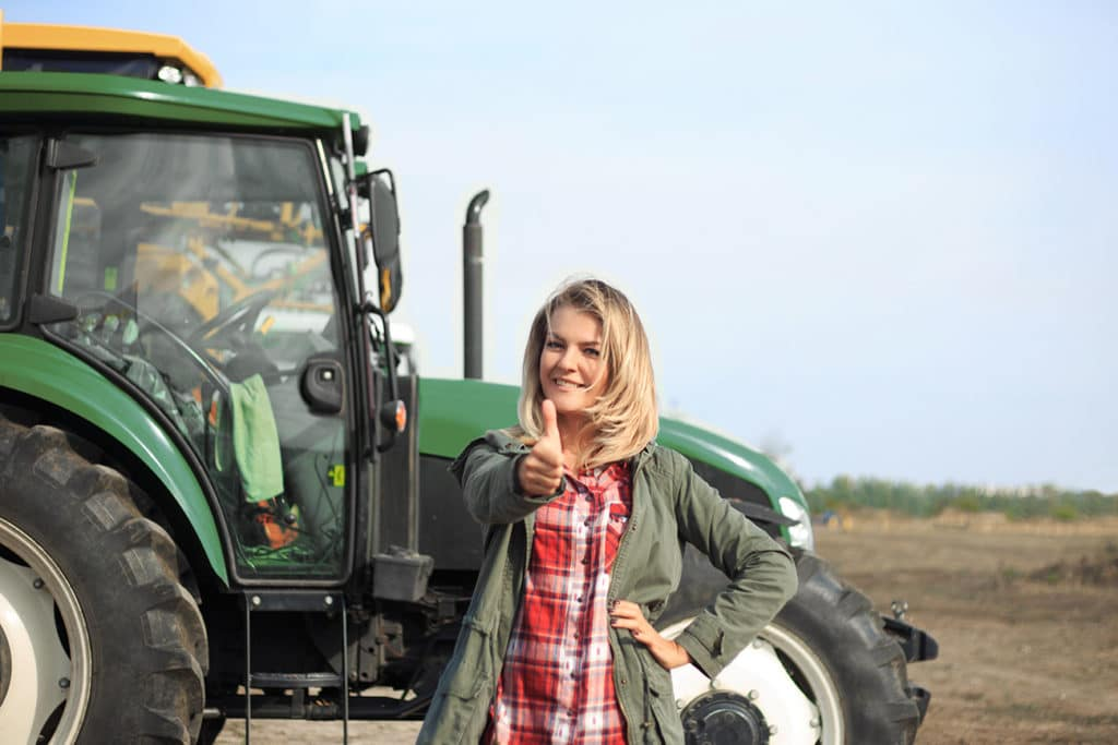 jeune agricultrice